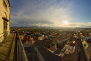 Zittau - Blick in die Abendsonne